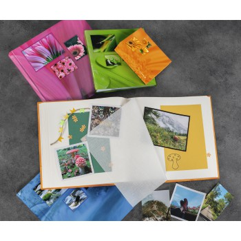 "fam Product Family - Hama, ""Singo"" Softcover Album for 24 photos w. a size of 13x18 cm,sort. by colour"