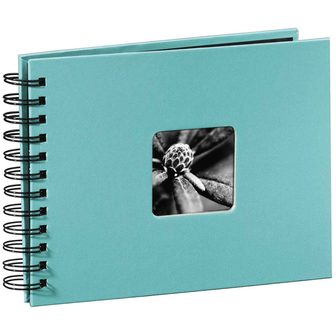 "abx High-Res Image - Hama, ""Fine Art"" Spiral Album, 24 x 17 cm, 50 Black Pages, turquoise"