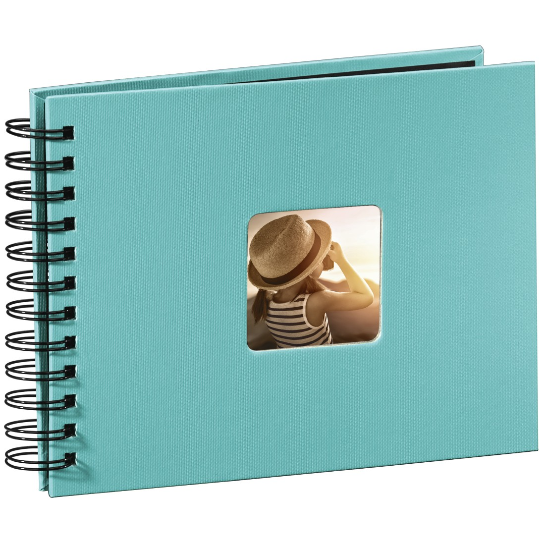 "abx3 High-Res Image 3 - Hama, ""Fine Art"" Spiral Album, 24 x 17 cm, 50 Black Pages, turquoise"