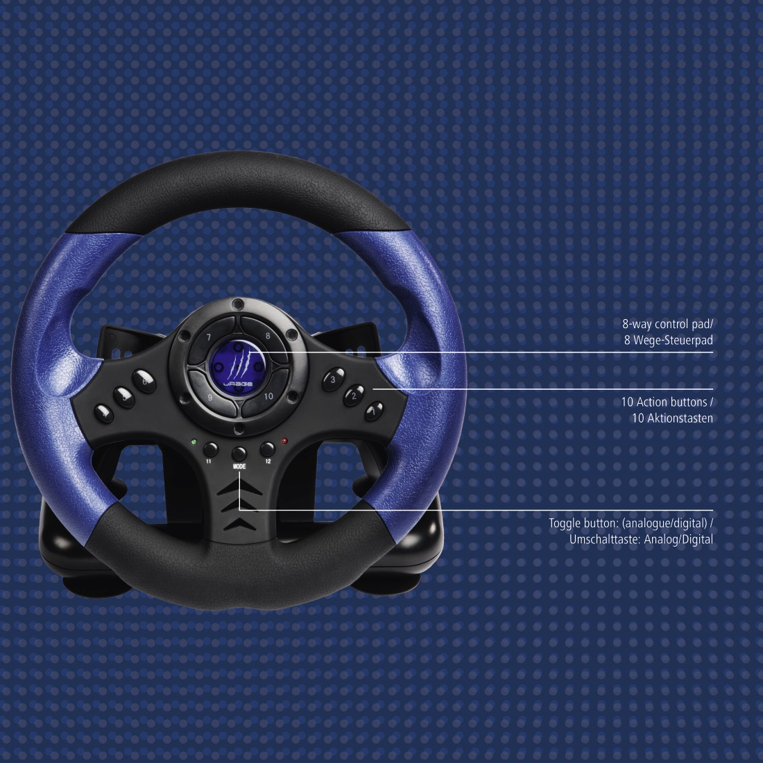 как установить руль hama wheel gripz