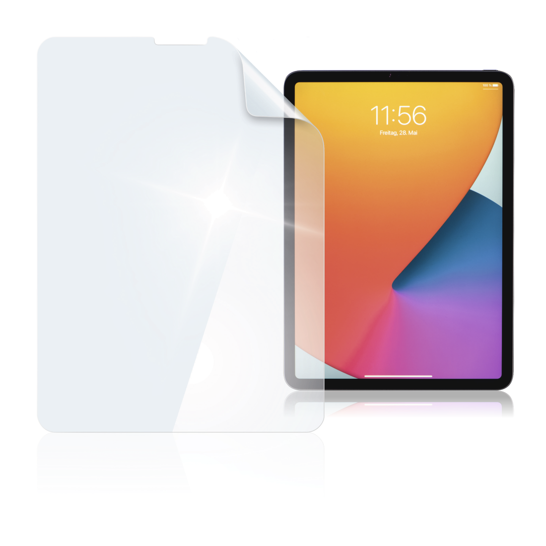 "abx High-Res Image - Hama, ""Crystal Clear"" Screen Protection Film for Apple iPad Pro 11"" (2020)"