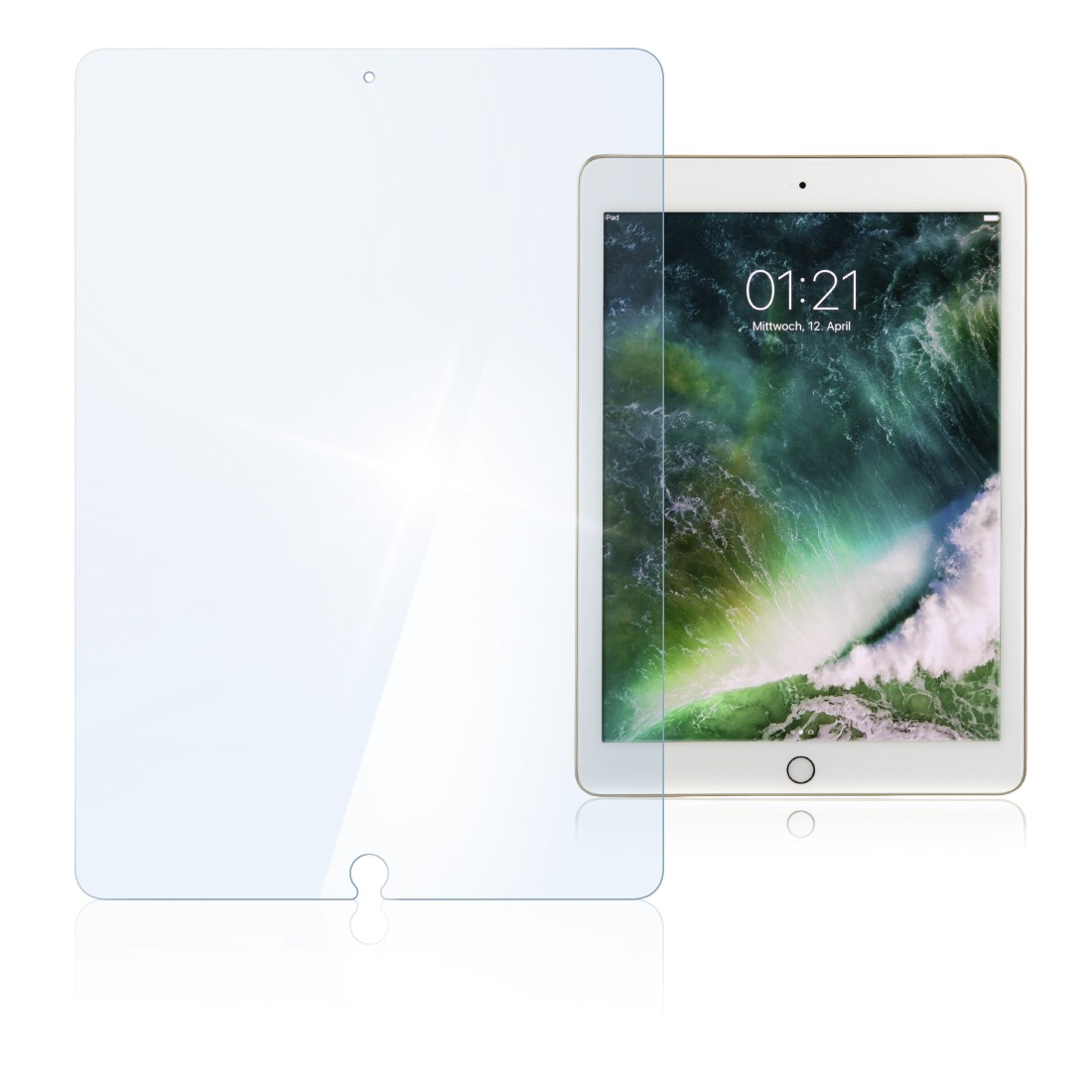 "abx High-Res Image - Hama, ""Premium"" Glass Screen Protector for iPad Air 2/Pro 9.7""/9.7"" (2017/2018)"