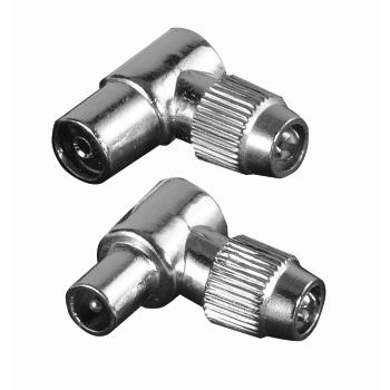 Grey Hama 00116018 F-Plug to Coaxial SAT Adapter Kit