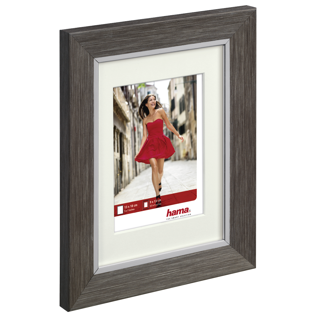 00125652 Hama Porto Plastic Frame Grey Pine 20 X 30 Cm Hama De