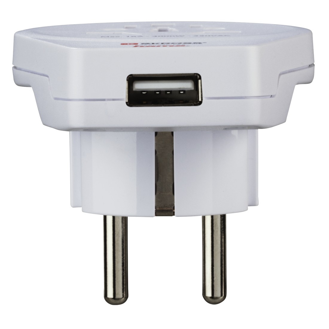 "dex3 High-Res Detail 3 - Hama, ""World to Europe USB"" Travel Adapter Plug, 3 pins"