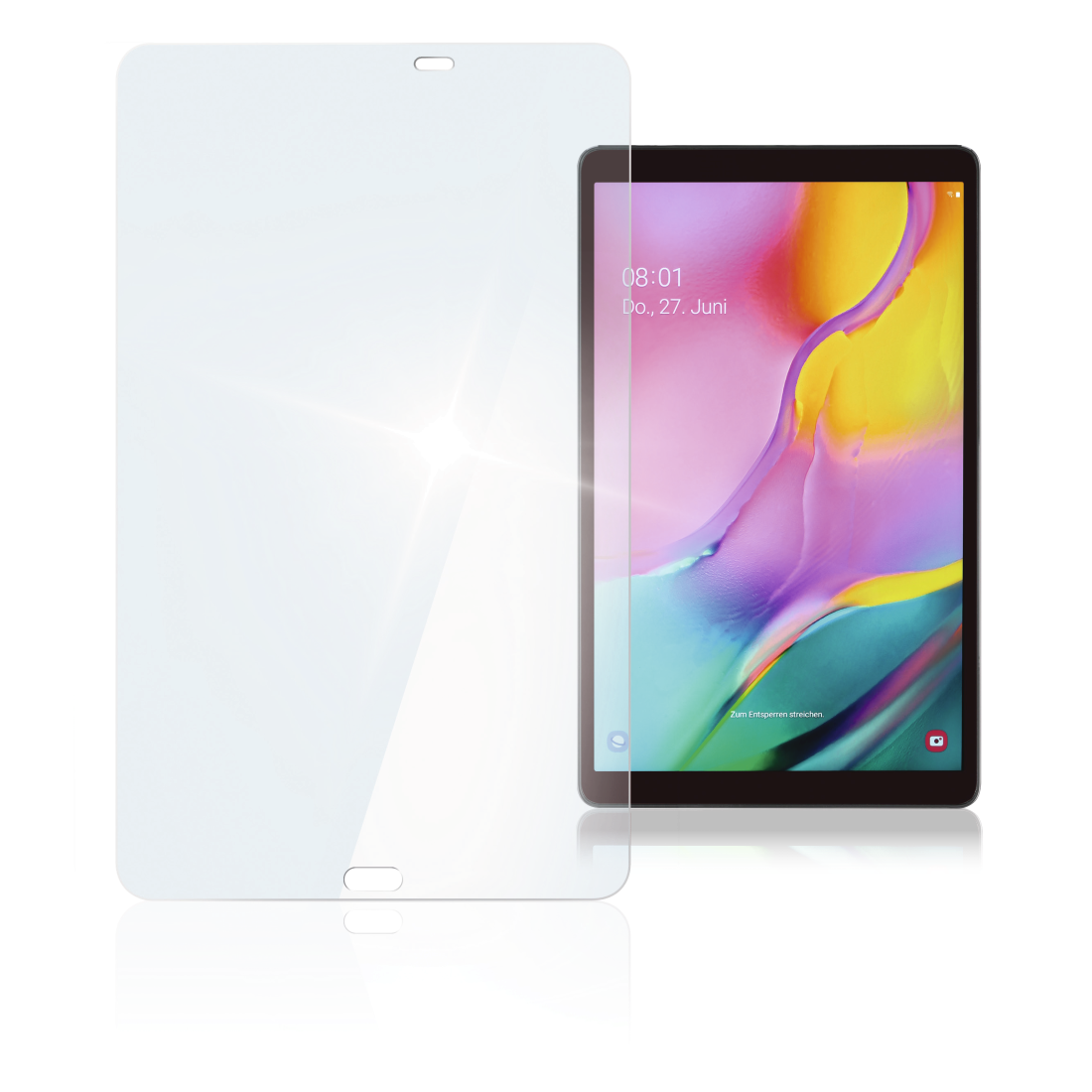 "abx High-Res Image - Hama, ""Premium"" Display Protection Glass for the Samsung Galaxy Tab A 10.1 (2019)"