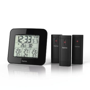 HOTEU 52mm elektronisches Dreifachmessger/ät Kit /Öldruck Wassertemperaturanzeige Voltmeter 3 in 1 Auto Motorradz/ähler Zubeh/ör
