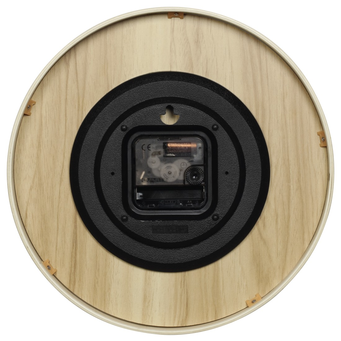 "dex High-Res Detail - Hama, ""HG-250"" Wall Clock, silent, wood, white"