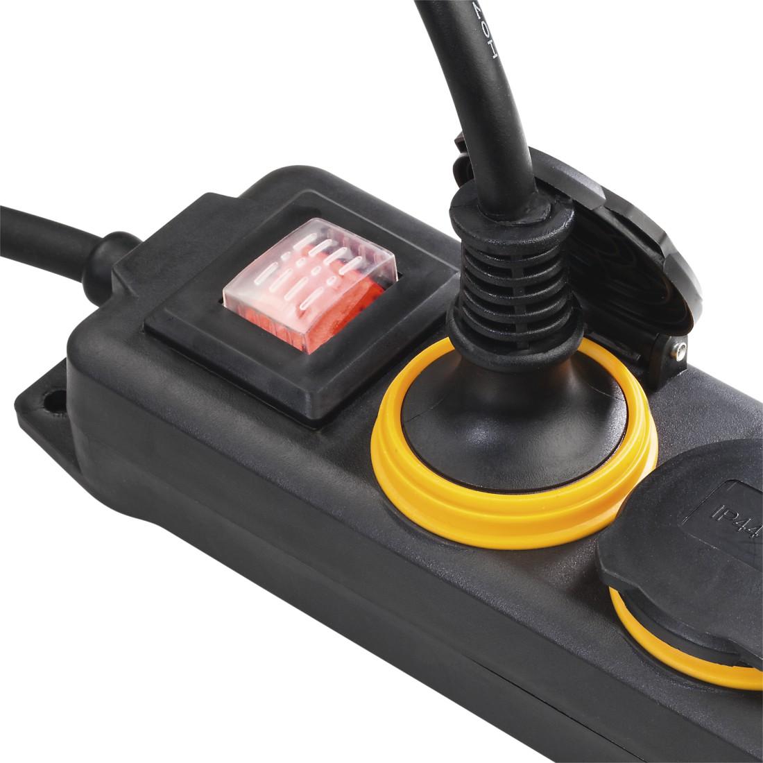 00137284 Hama 4 Way Power Strip With Switch Splash Proof Ip 44 2 Joystick Awx High Res Appliance