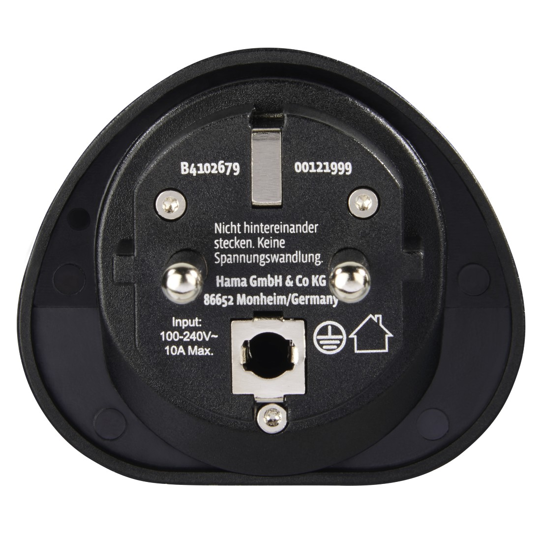 "dex2 High-Res Detail 2 - Hama, ""Uni"" Travel Plug / Travel Adapter on German Plug with Earth contact, black"