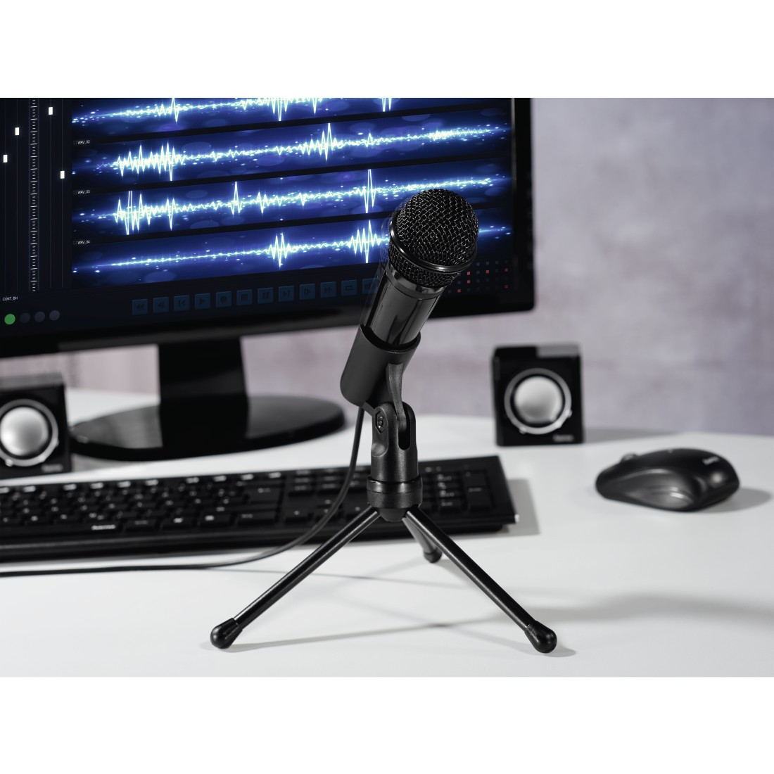 "awx High-Res Appliance - Hama, ""MIC-P35 Allround"" Microphone for PC and Notebook, 3.5 mm Jack Plug"