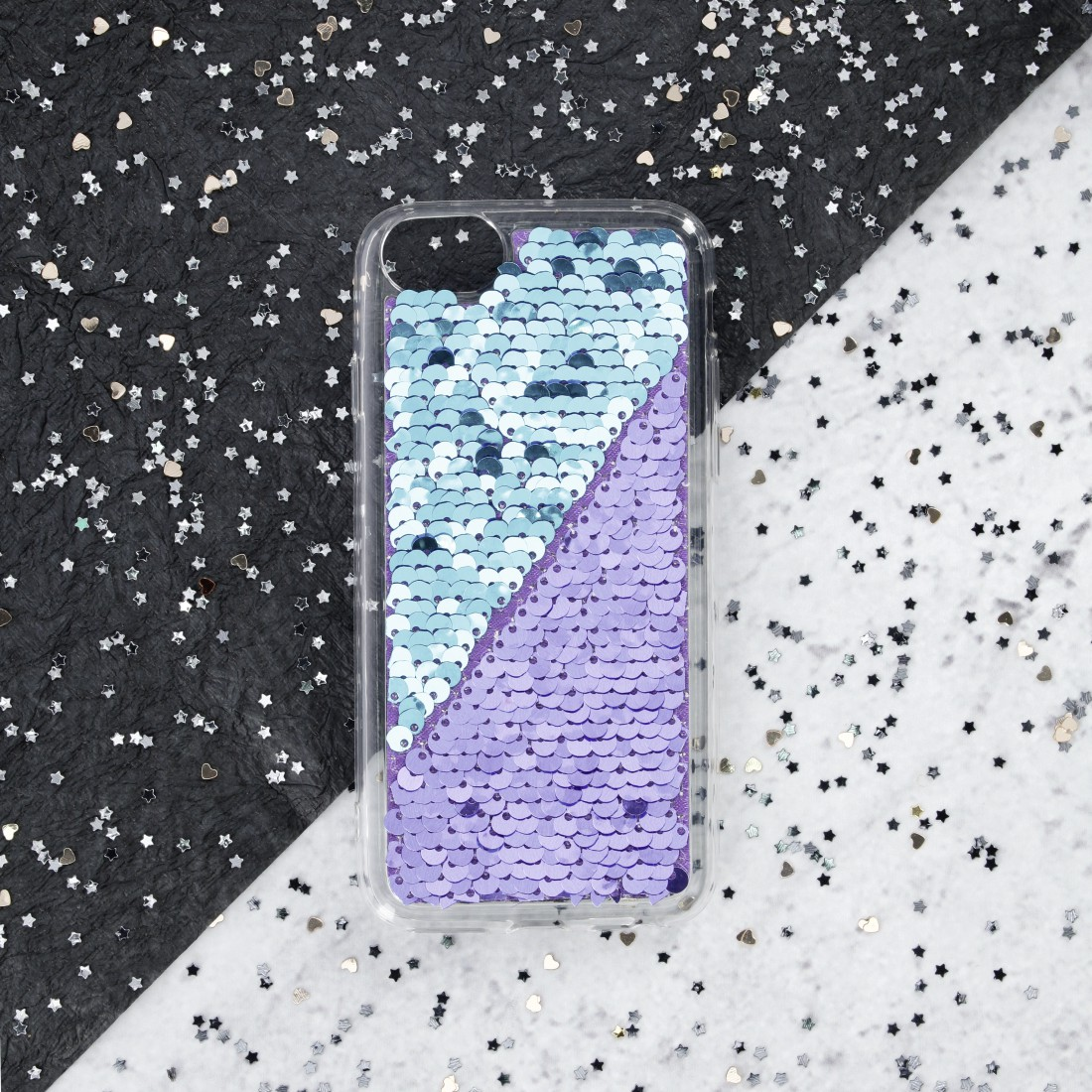 "awx2 Druckfähige Anwendung 2 - Hama, Cover ""Paillettes"" für Apple iPhone XR, Lila/Türkis"