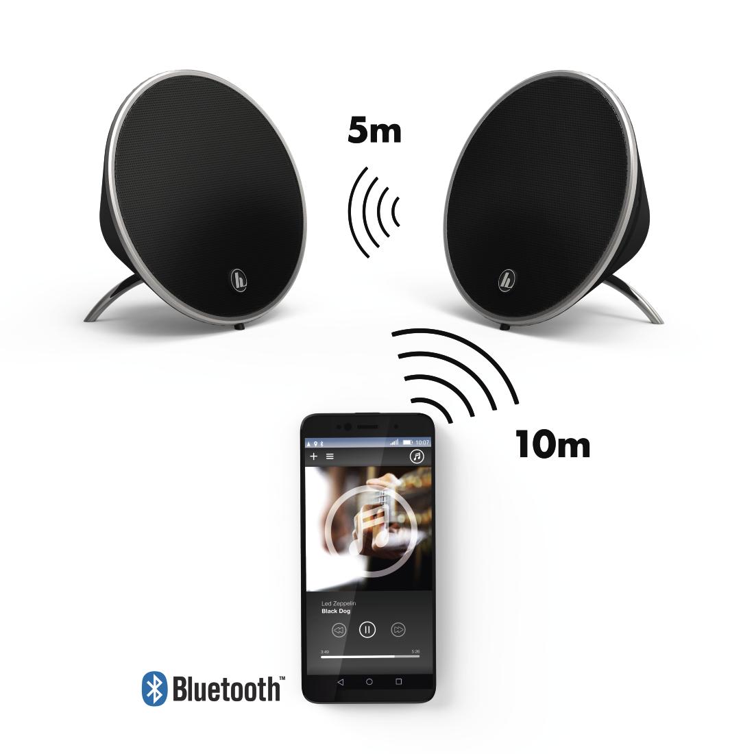 00173166 hama mobiles bluetooth lautsprecher set cones schwarz hama de. Black Bedroom Furniture Sets. Home Design Ideas