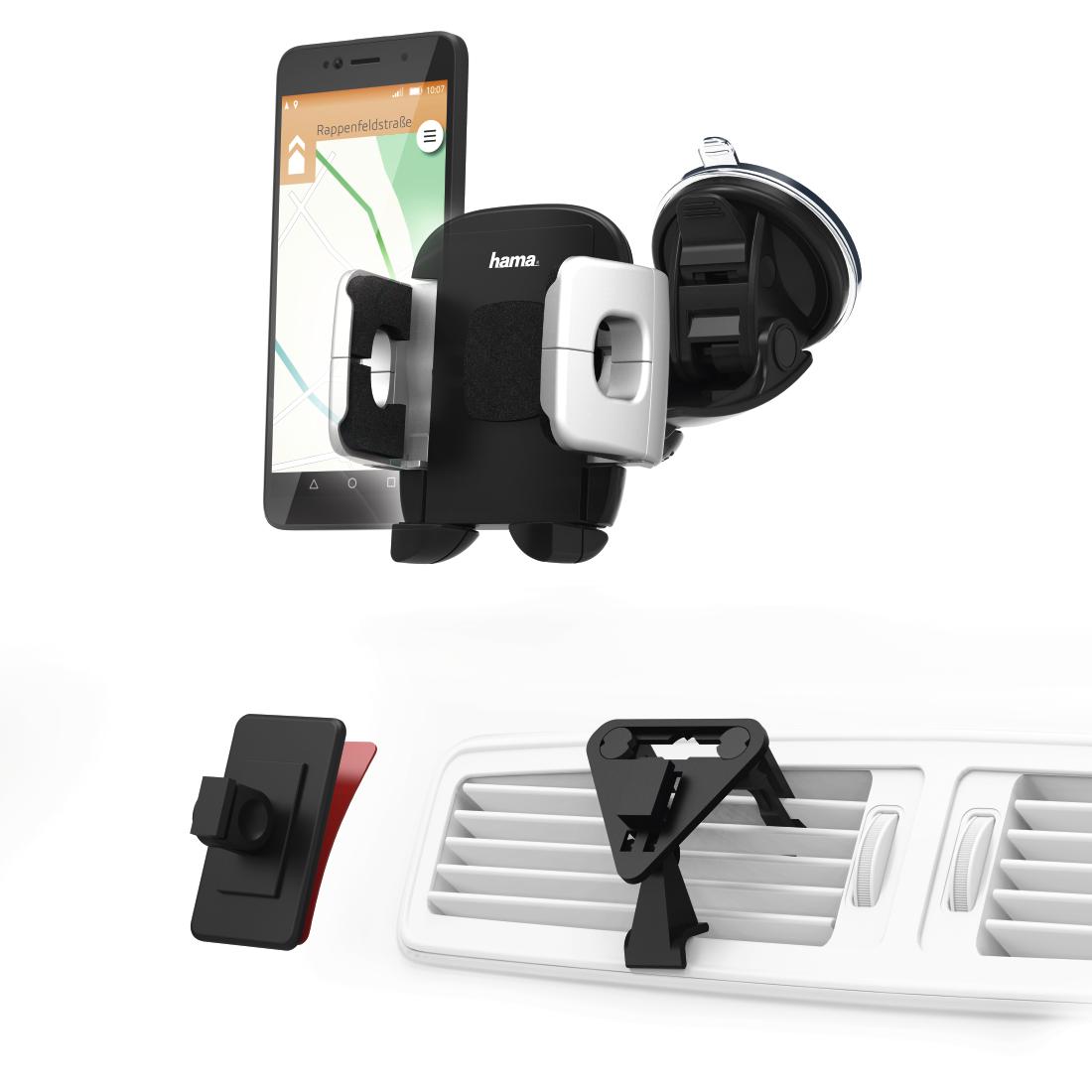 00173882 hama universal smartphone halter set f r ger te mit einer breite von 4 11 cm hama de. Black Bedroom Furniture Sets. Home Design Ideas