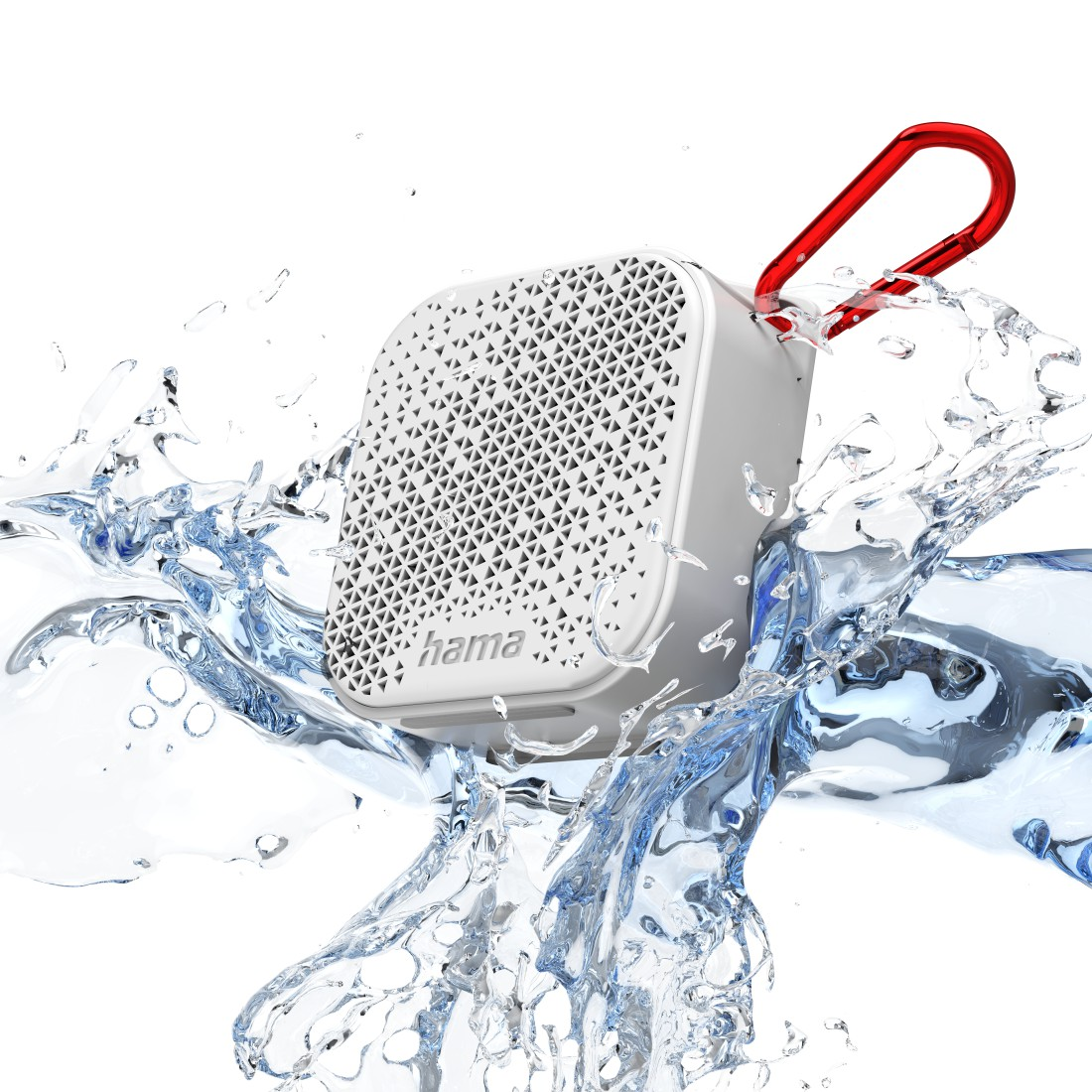 "awx High-Res Appliance - Hama, Bluetooth® ""Pocket 2.0"" Loudspeaker, Waterproof, 3.5 W, white"