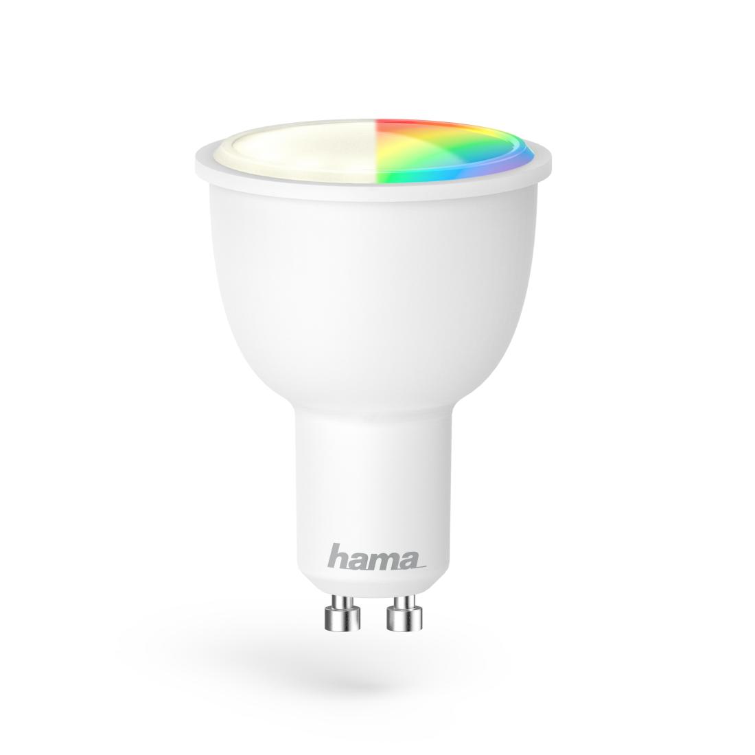 hama.de | 00176532 Hama WiFi-LED-Lampe, GU10, 4,5W, RGB, dimmbar ...