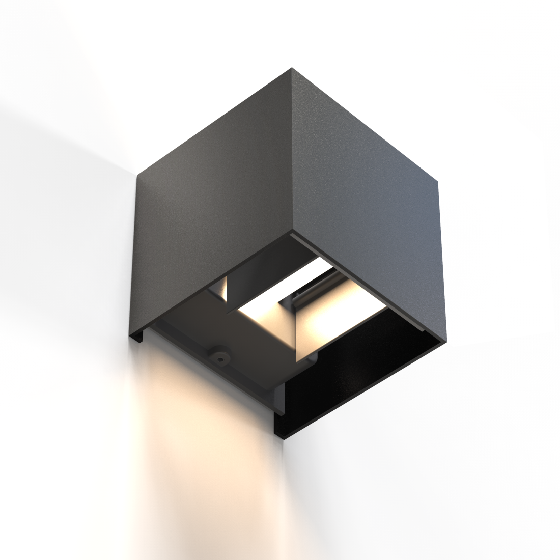 abx High-Res Image - Hama, WiFi Wall Light, Square, 10 cm, IP 44 for Indoors and Outdoors, black