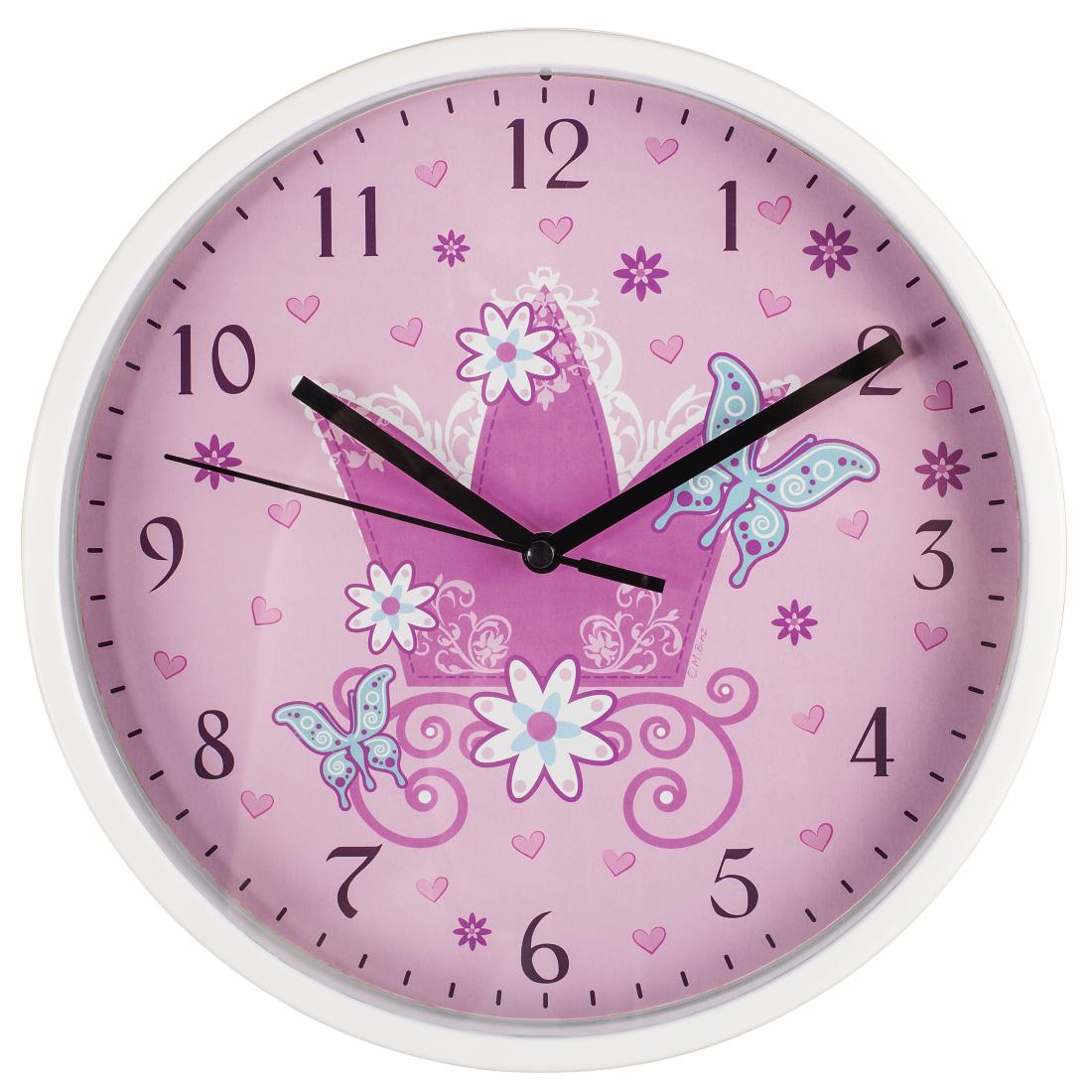00176919 Hama Crown Childrens Wall Clock Diameter 225 Cm Low