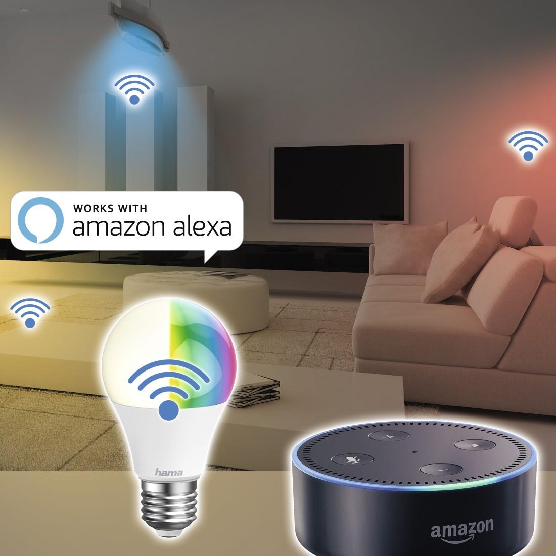 20 Hama WiFi-LED Light, E20, 20W, RGB, can be dimmed  Hama DE