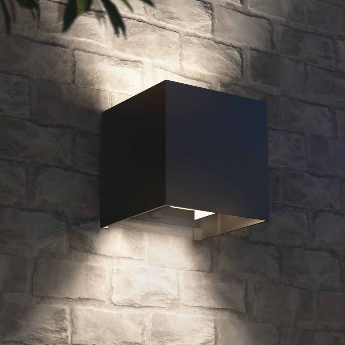 awx2 High-Res Appliance 2 - Hama, WiFi Wall Light, Square, 10 cm, IP 44 for Indoors and Outdoors, black
