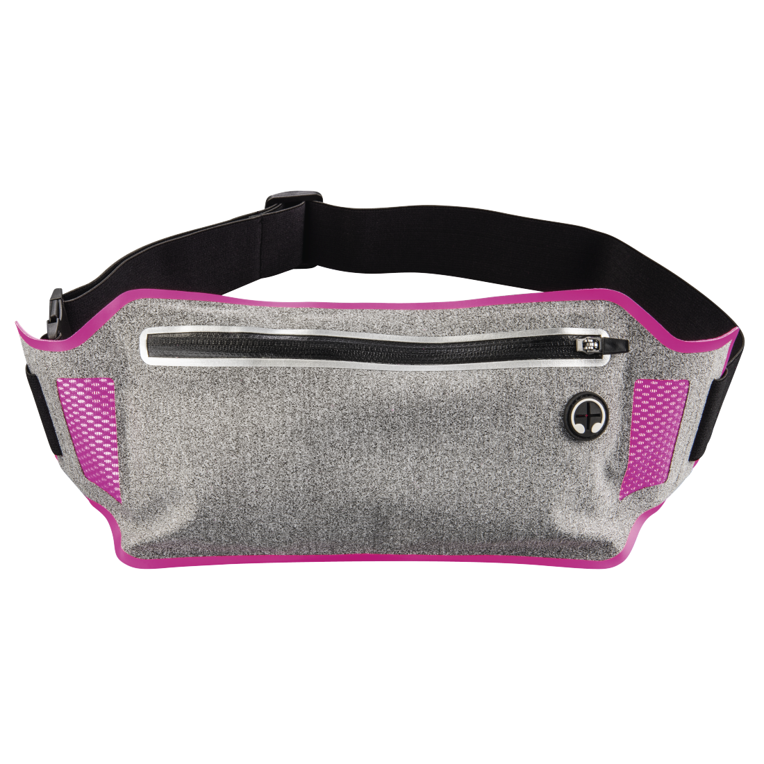 "abx High-Res Image - Hama, ""Running"" Sports Hip Pouch for Smartphones, grey/pink"