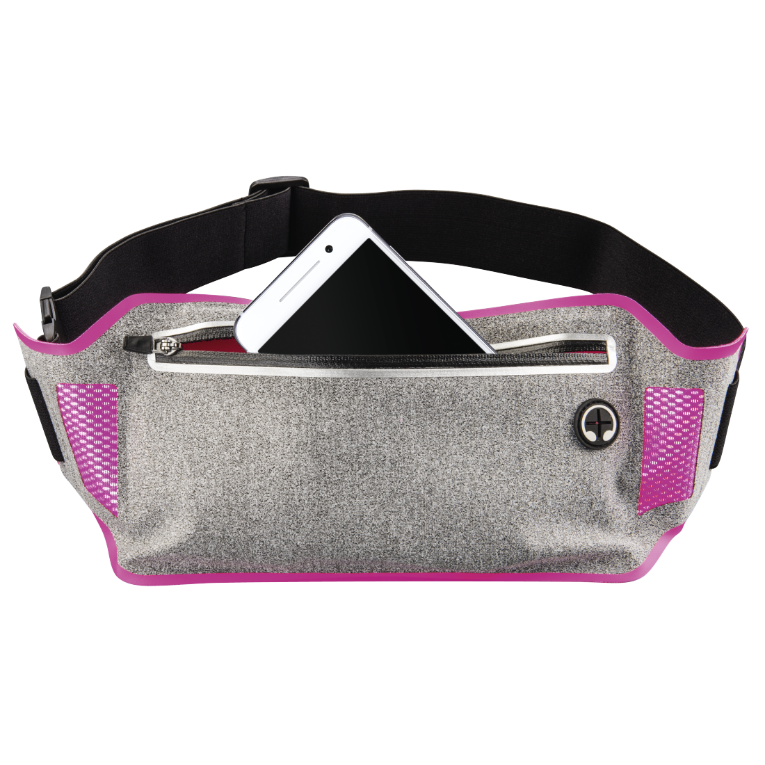"abx2 High-Res Image 2 - Hama, ""Running"" Sports Hip Pouch for Smartphones, grey/pink"