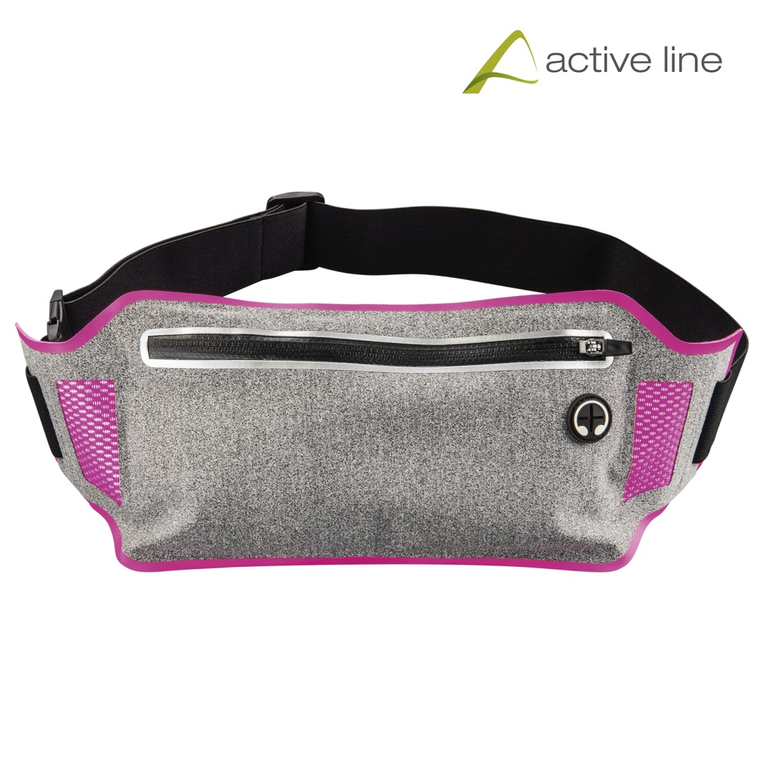 "uax Printable Image Logo - Hama, ""Running"" Sports Hip Pouch for Smartphones, grey/pink"