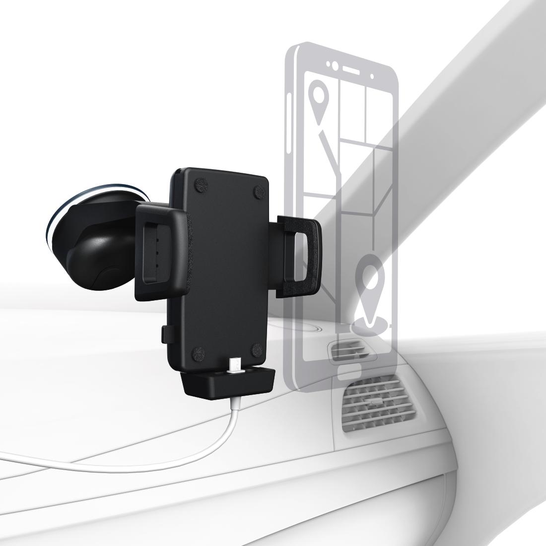 00178221 hama uni smartphone halter mit ladefunktion f r ger te mit breite 5 5 8 cm hama de. Black Bedroom Furniture Sets. Home Design Ideas