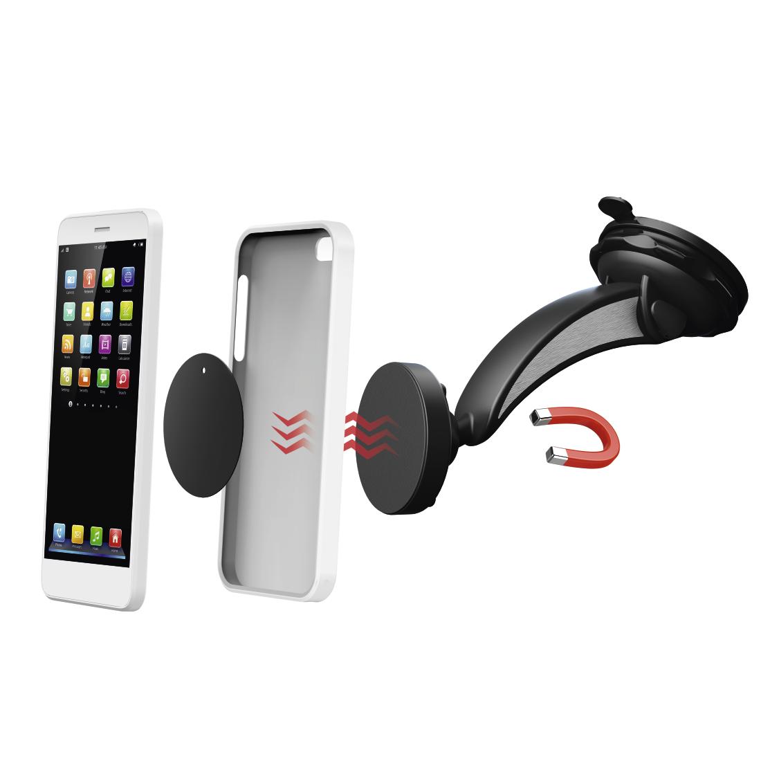 00178245 hama uni smartphone halter magnet mit saugnapf hama de. Black Bedroom Furniture Sets. Home Design Ideas