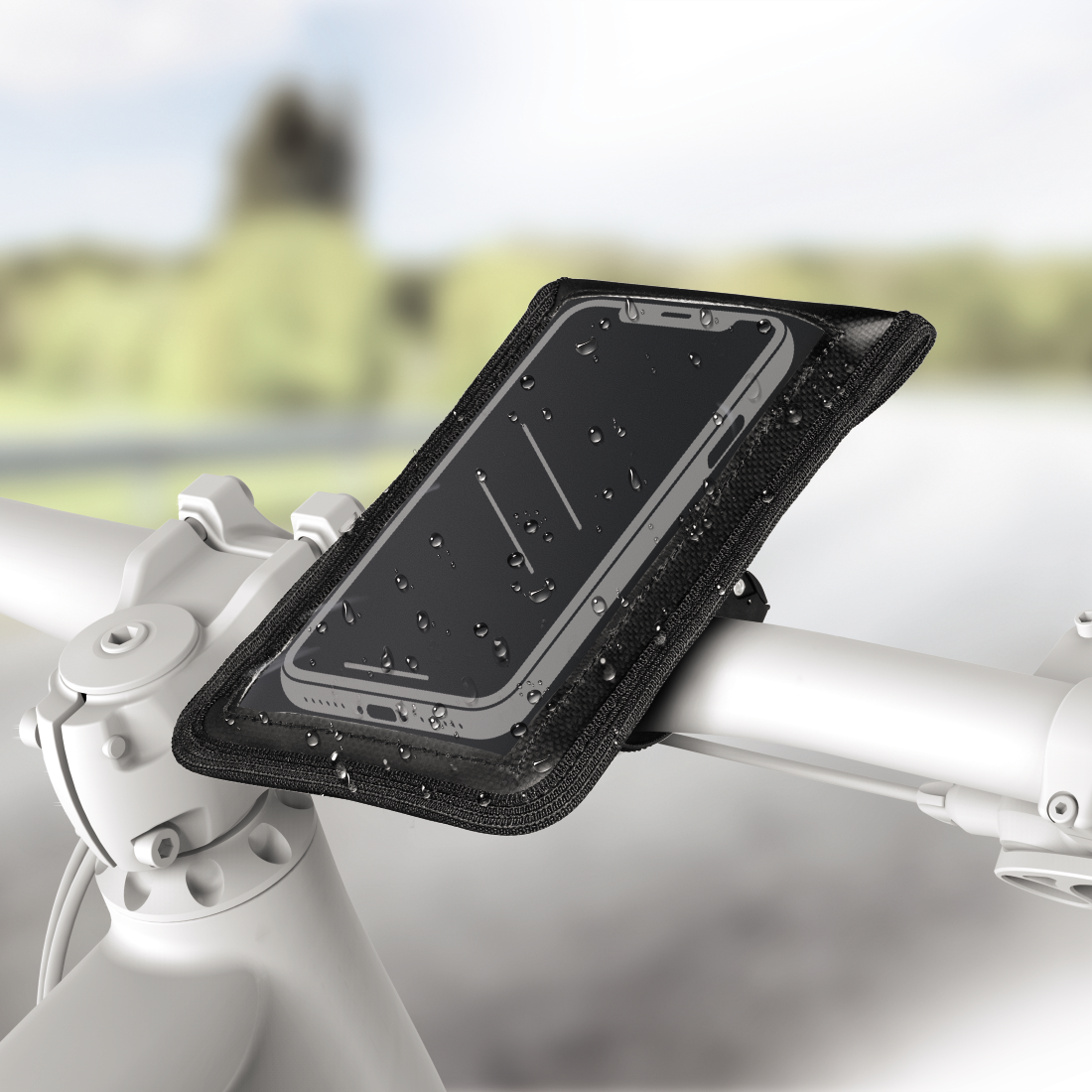 abx High-Res Image - Hama, Univer. Smartphone Bike Holder Bag for devices with width from 7 to 13.5 cm