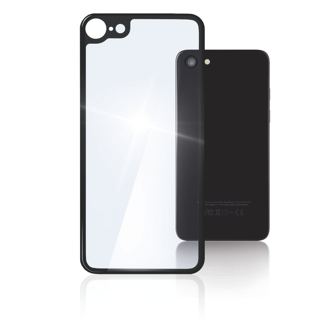"abx High-Res Image - Hama, ""Back Side"" 3D Real Glass Protection for Apple iPhone 8, transparent"