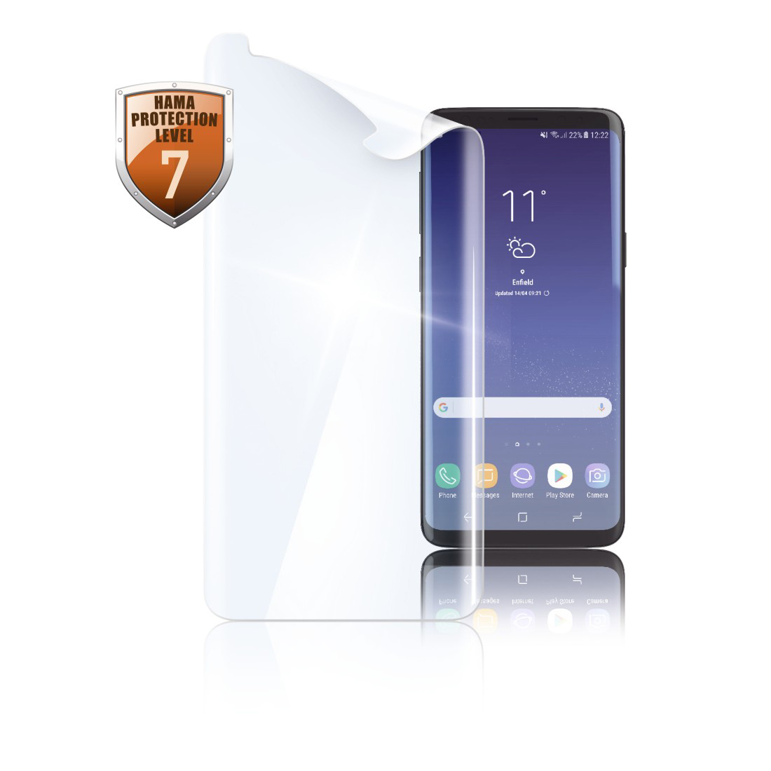 "abx High-Res Image - Hama, ""Full Screen Curved"" Display Protection Film for Samsung Galaxy S9"