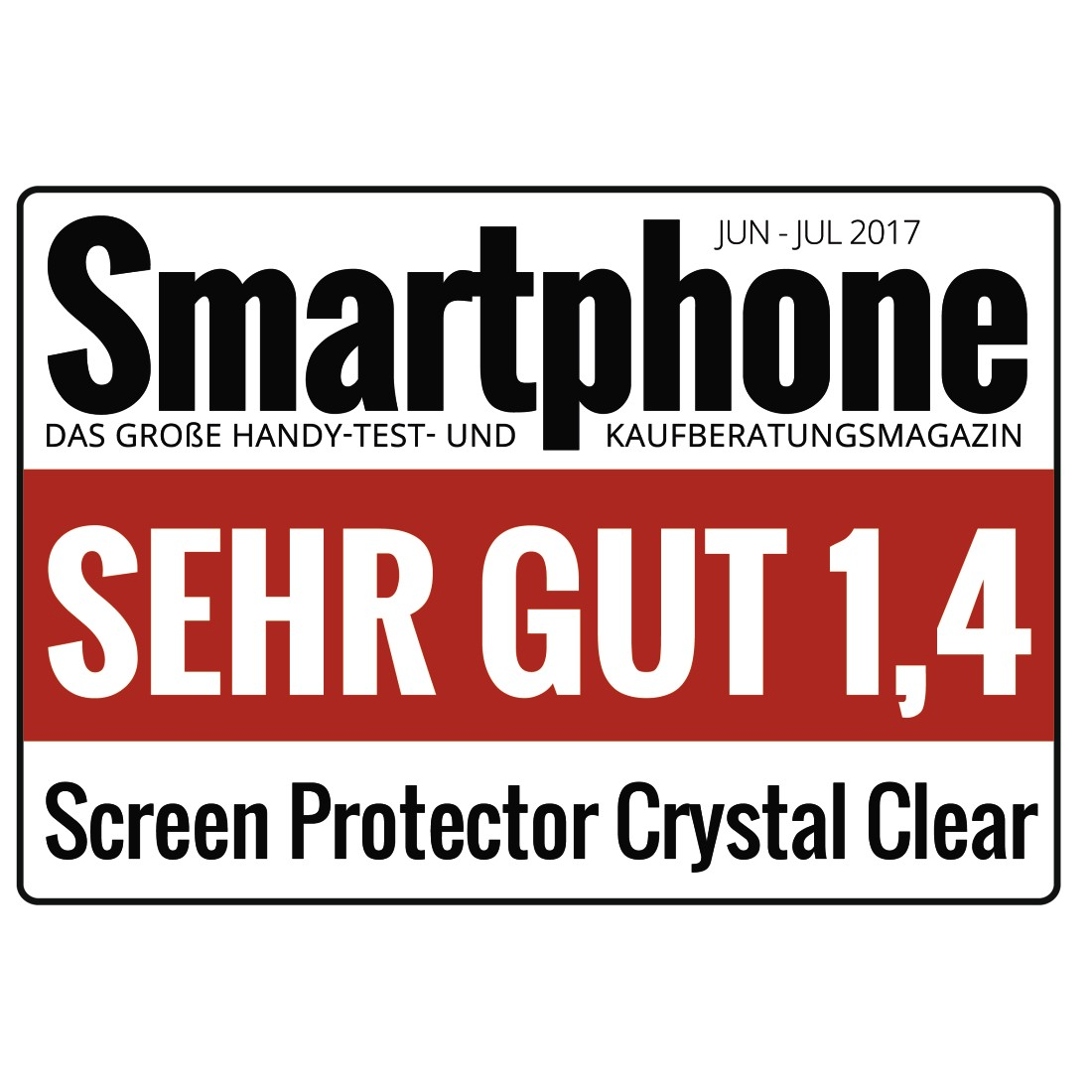 "tex Druckfähiges Testurteil - Hama, ""Crystal Clear"" Display Protection Film for Apple iPhone X/Xs, 2 pcs"