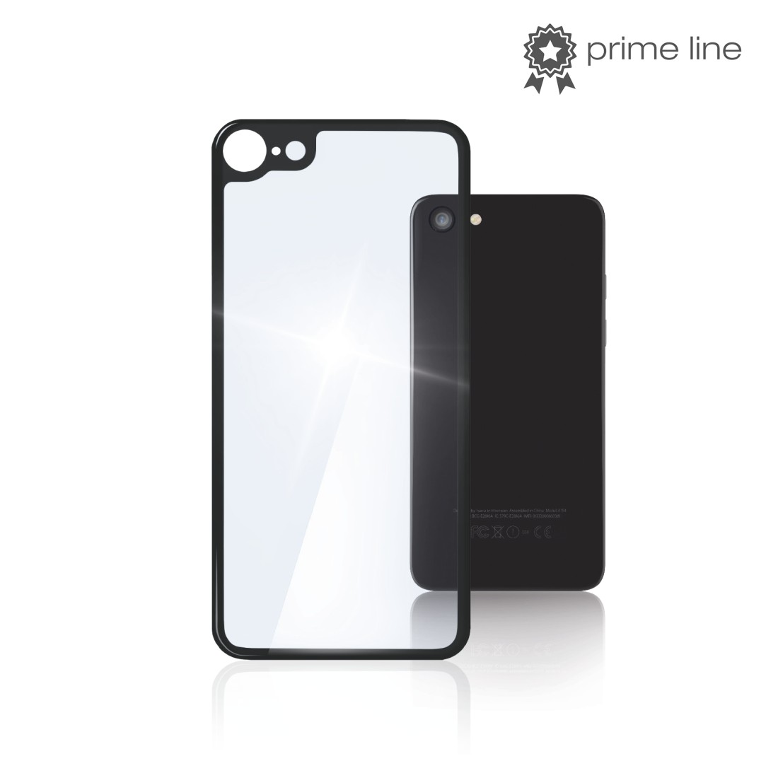 "uax Printable Image Logo - Hama, ""Back Side"" 3D Real Glass Protection for Apple iPhone 8, transparent"