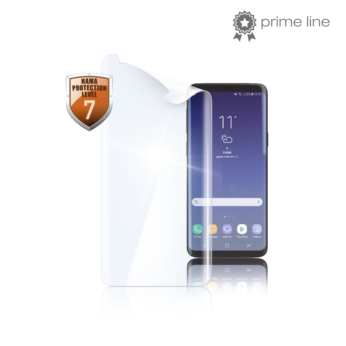 "uax Printable Image Logo - Hama, ""Full Screen Curved"" Display Protection Film for Samsung Galaxy S9"
