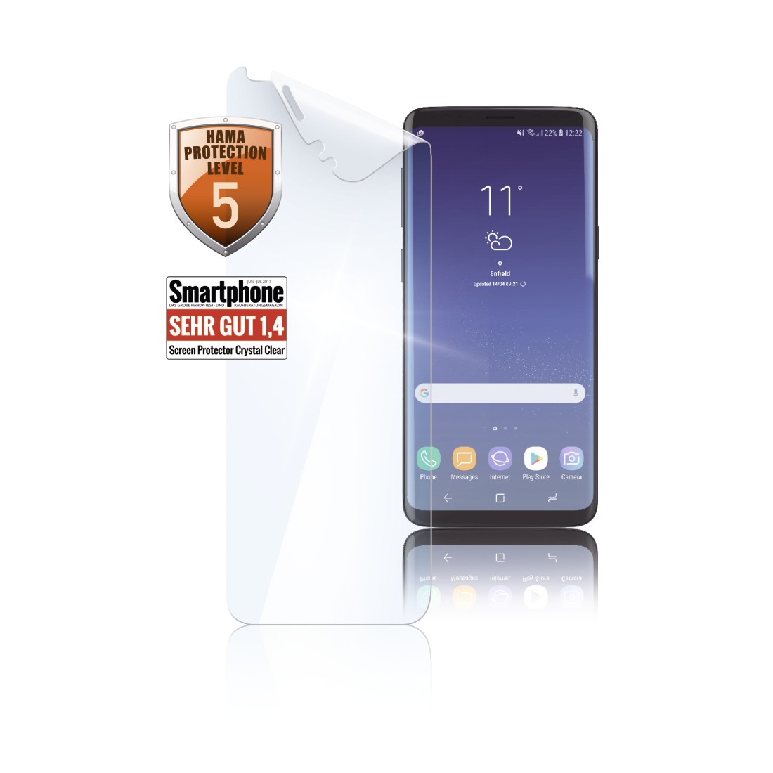 "uax Printable Image Logo - Hama, ""Crystal Clear"" Display Protection Film for Samsung Galaxy S9, 2 pcs"