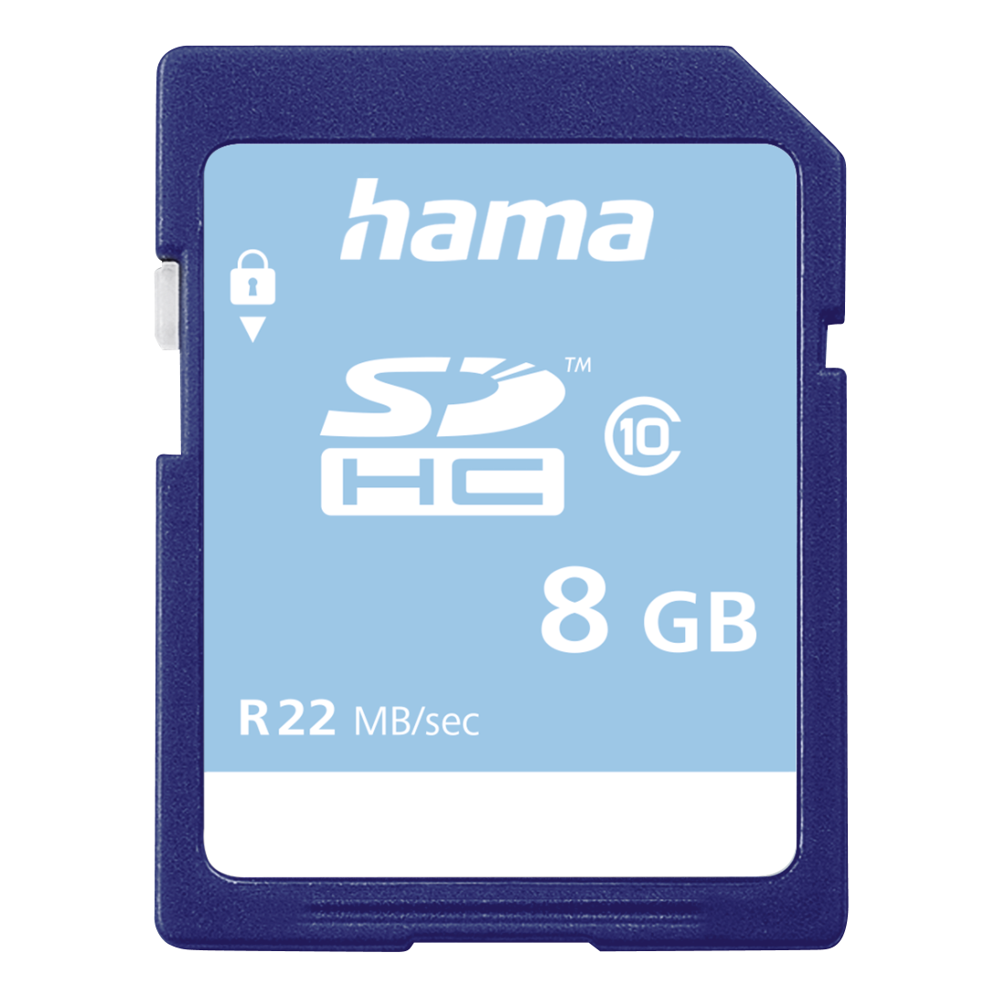 abx Druckfähige Abbildung - Hama, SDHC 8GB Class 10 22MB/s, Schmale Verpackung