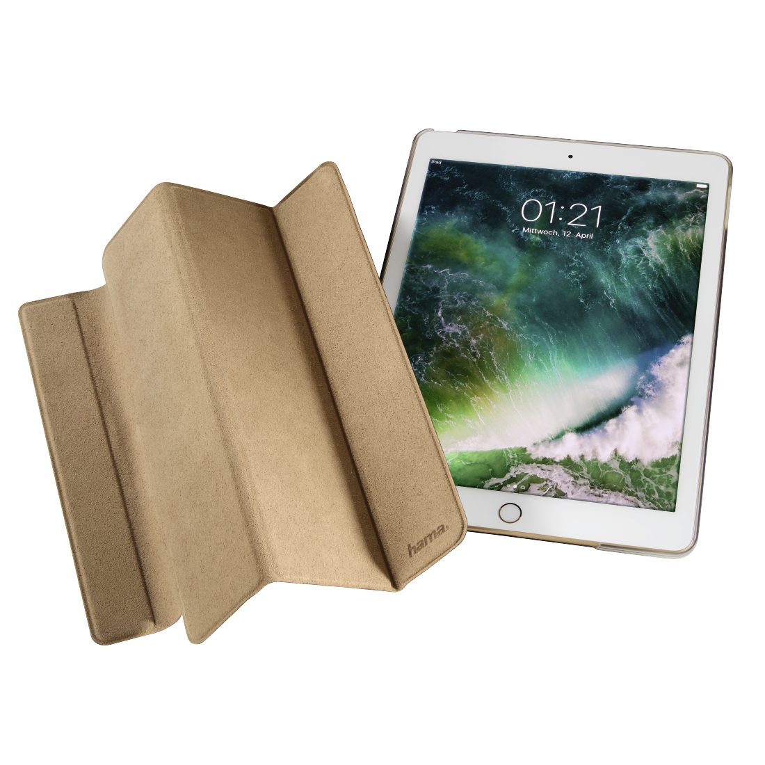 00182324 hama tablet case suede style f r apple ipad 9 7. Black Bedroom Furniture Sets. Home Design Ideas
