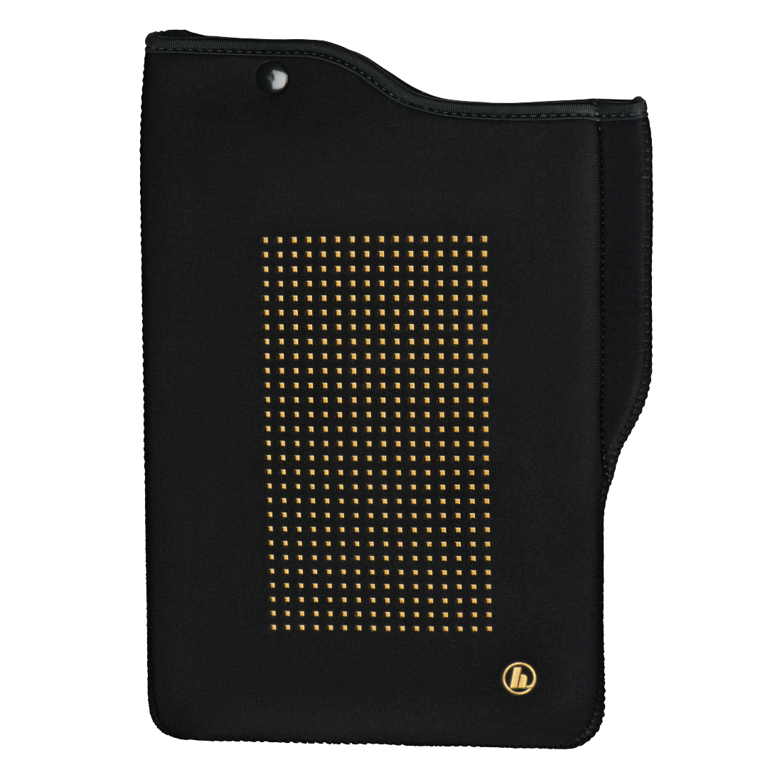 "abx High-Res Image - Hama, ""Neoprene"" Tablet Sleeve for the Apple iPad 9.7 (2017/2018), black/gold"