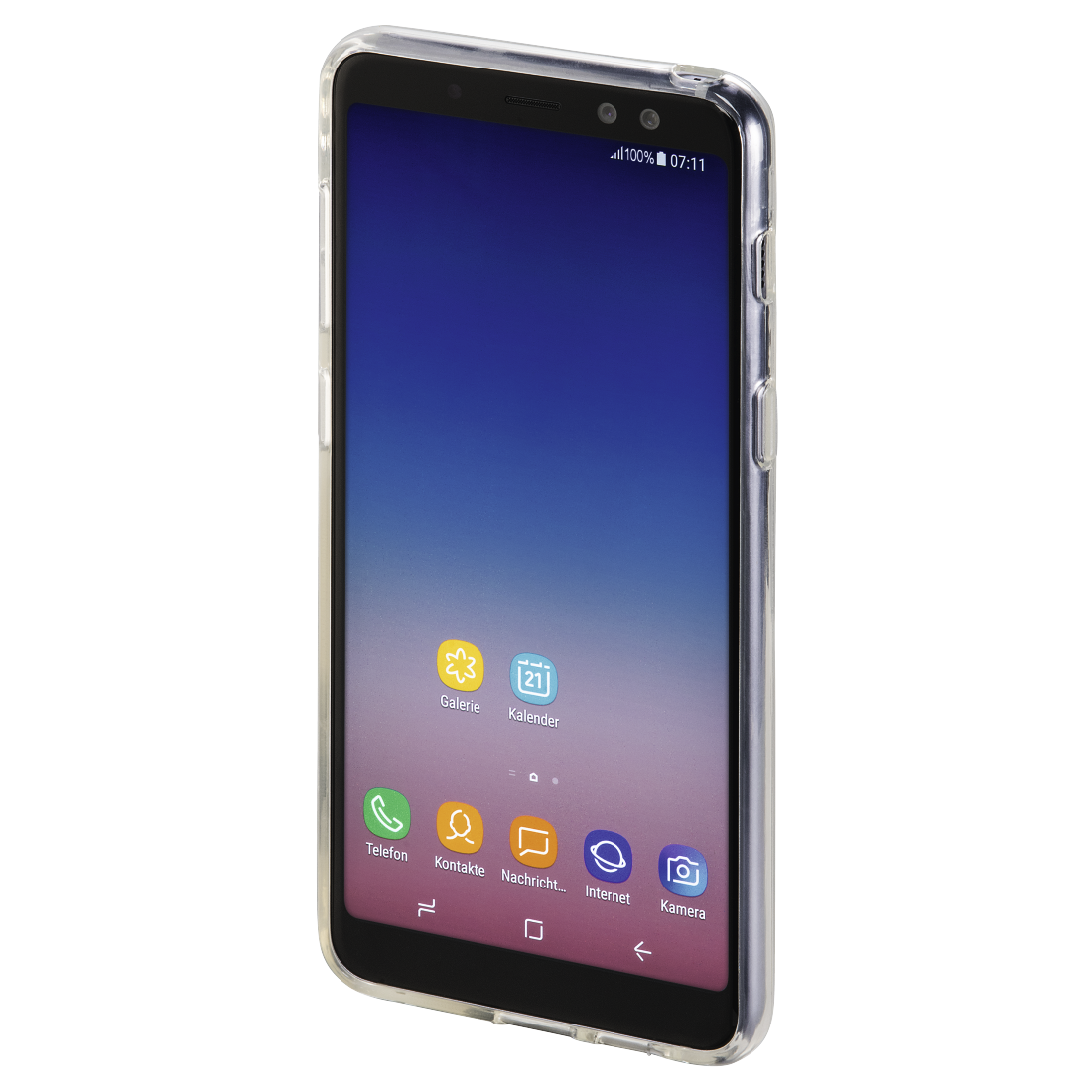 "abx3 High-Res Image 3 - Hama, ""Crystal Clear"" Cover for the Samsung Galaxy A8 (2018), transparent"