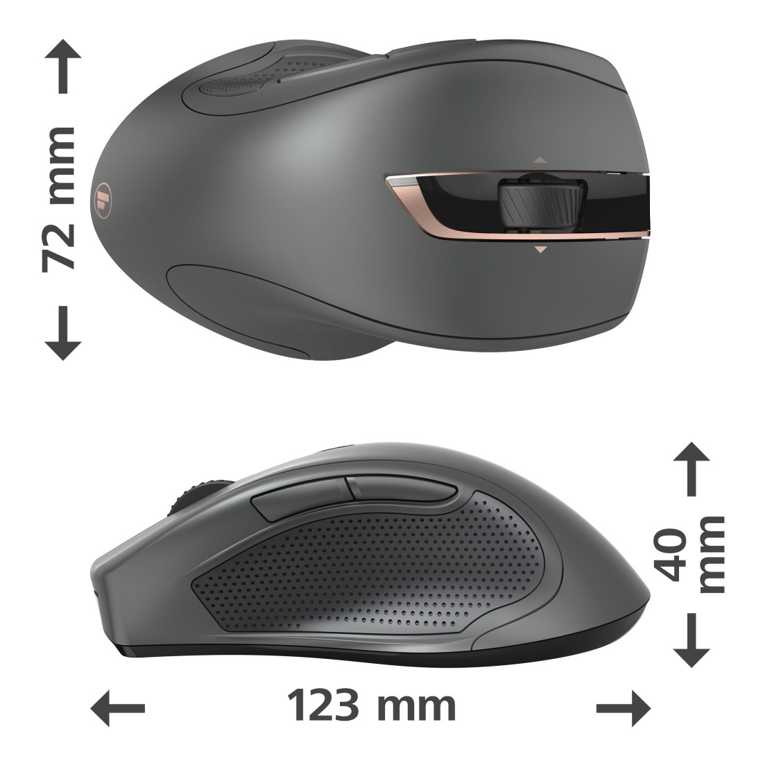 "dex High-Res Detail - Hama, ""MW-900"" 7-Button Laser Wireless Mouse, Auto-dpi, black"