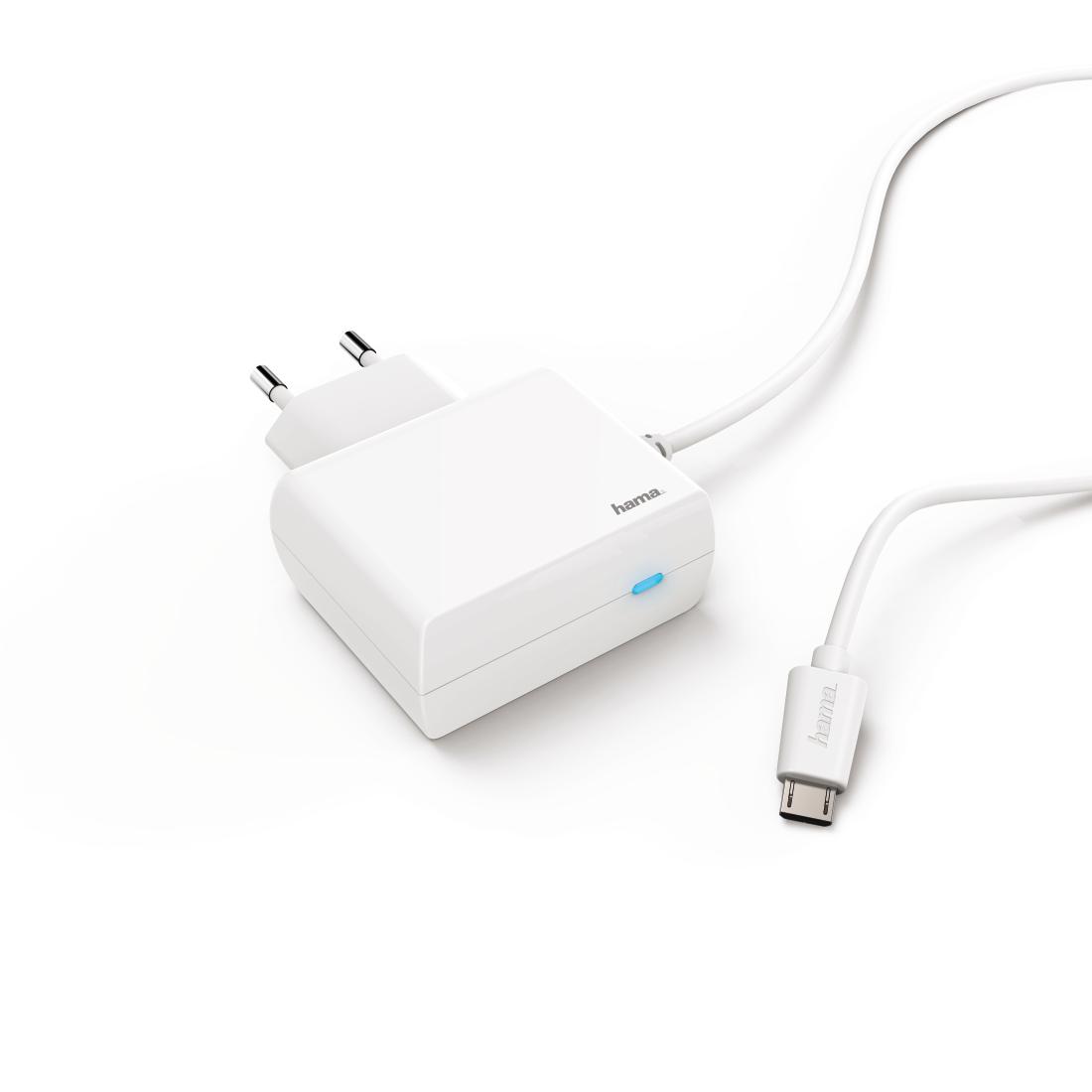 00183249 Hama Ladegerät, Micro USB, 2,4 A, Weiß | Hama DE