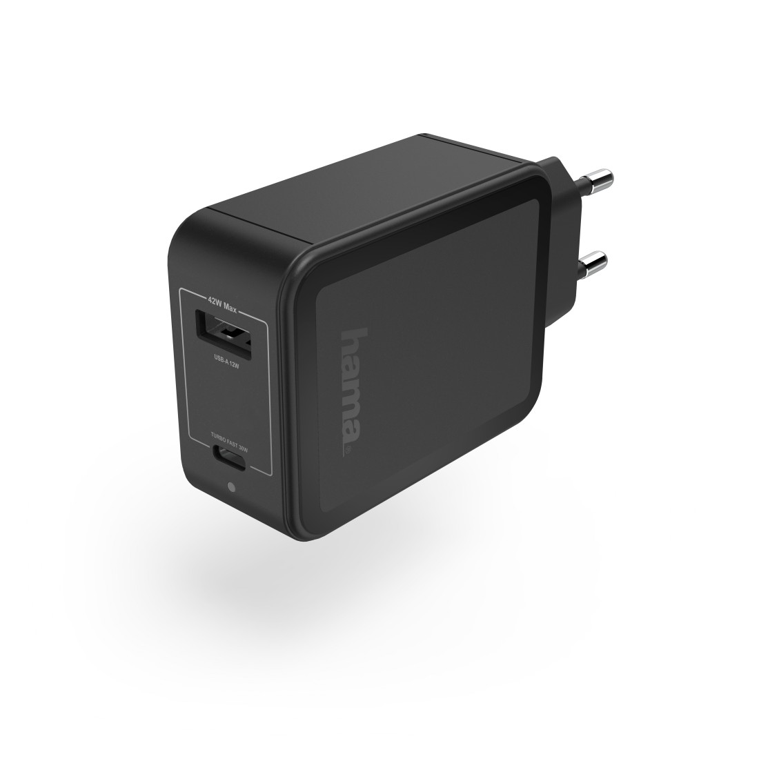 abx High-Res Image - Hama, Charger, USB-C, Power Delivery (PD) / Qualcomm® + USB-A, 42 W, black