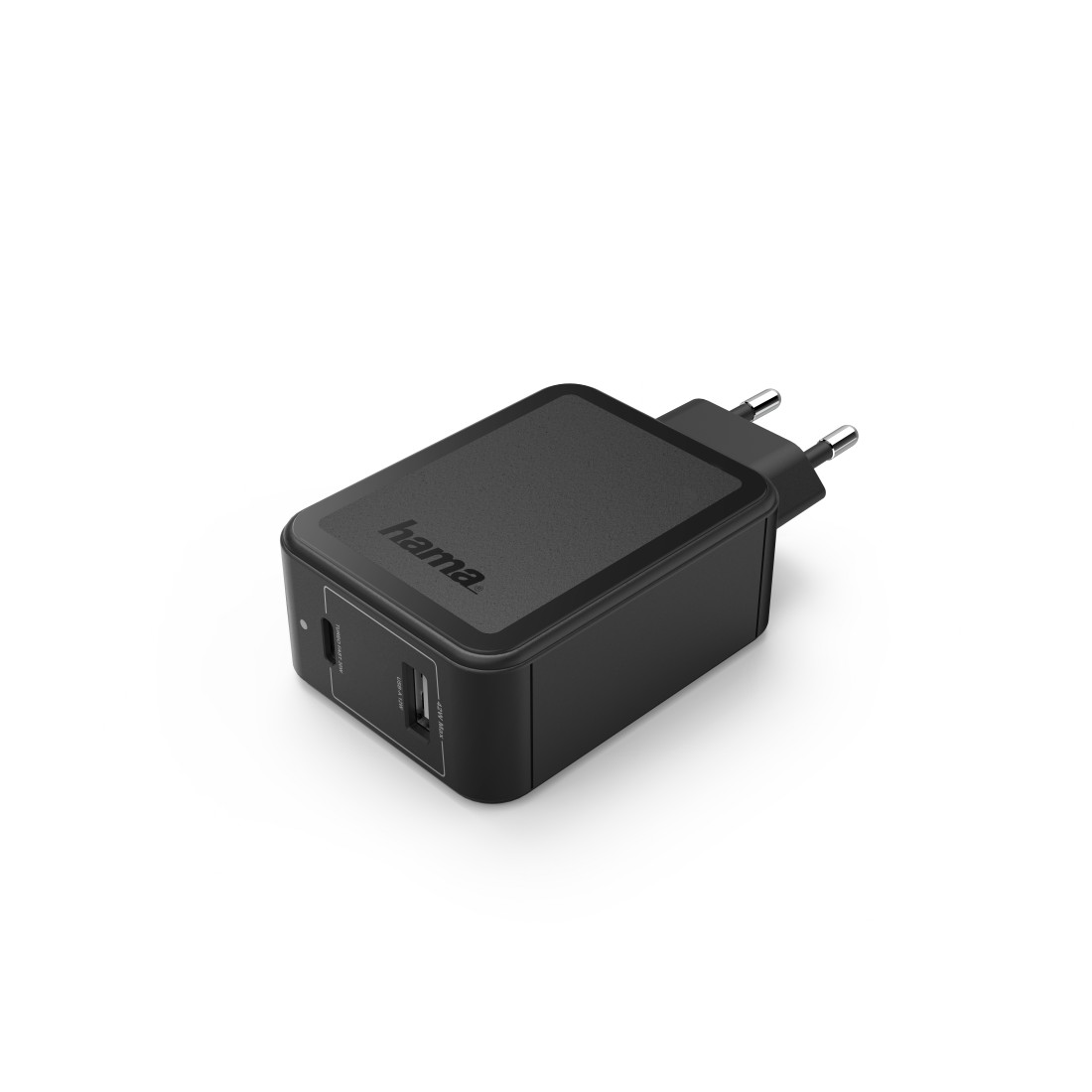 abx2 High-Res Image 2 - Hama, Charger, USB-C, Power Delivery (PD) / Qualcomm® + USB-A, 42 W, black