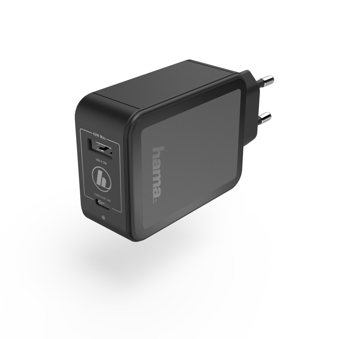 abx3 High-Res Image 3 - Hama, Charger, USB-C, Power Delivery (PD) / Qualcomm® + USB-A, 42 W, black