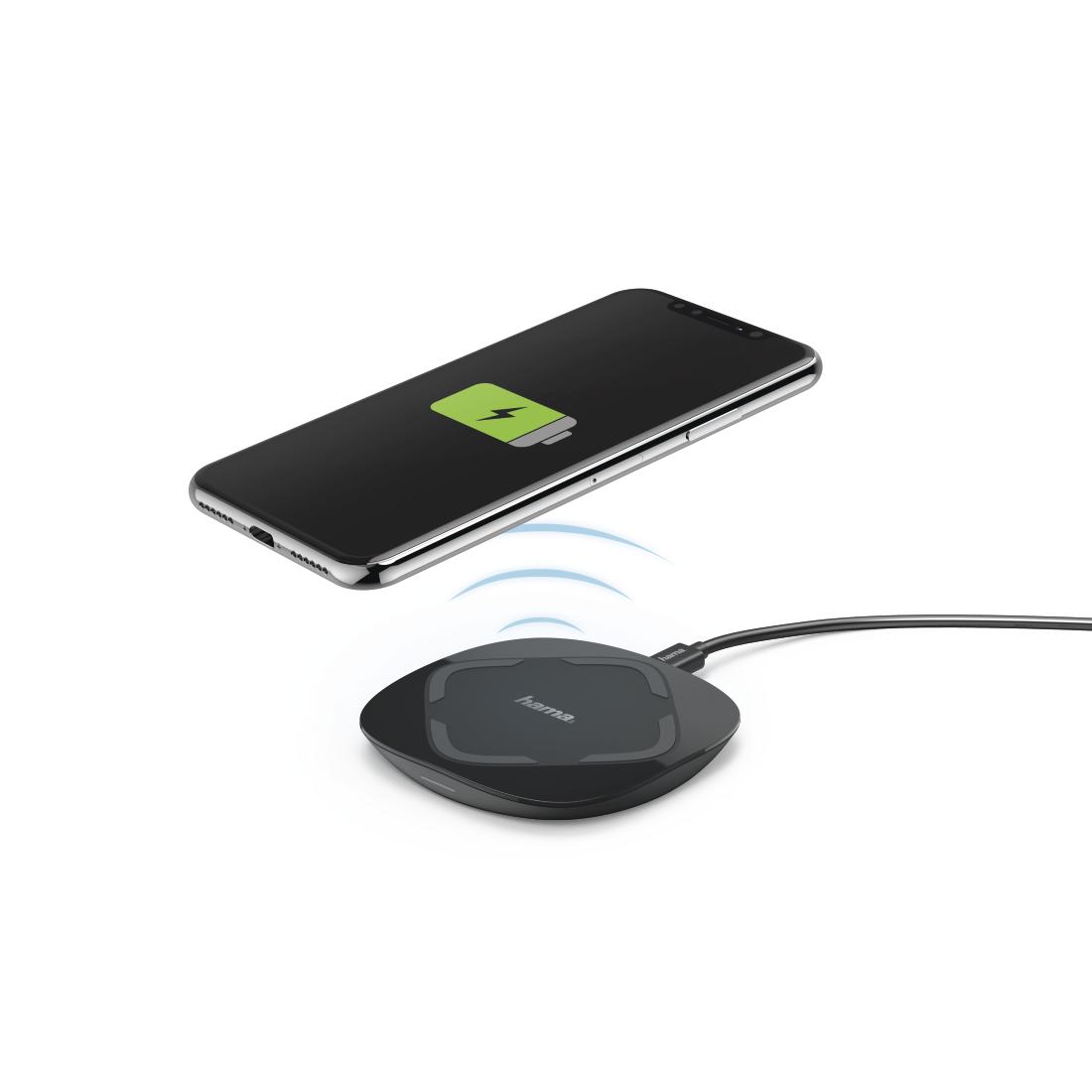 00183375 hama qi fc 10 wireless charger black hama de. Black Bedroom Furniture Sets. Home Design Ideas