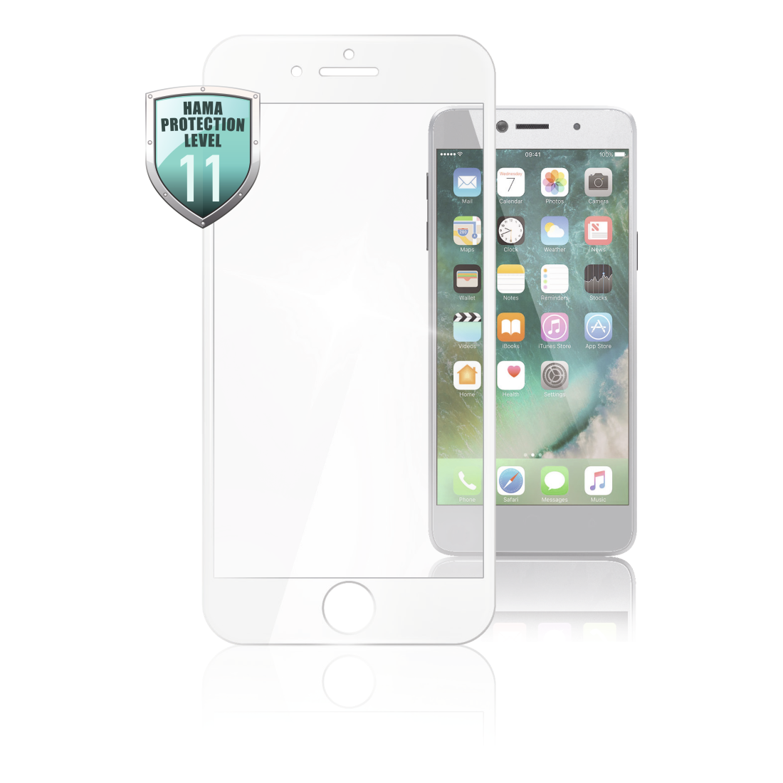 abx High-Res Image - Hama, 3D Full Screen Protective Glass for Apple iPhone 6/7/8, white
