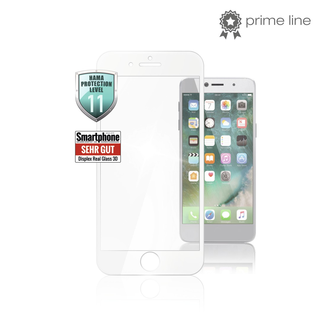 uax Printable Image Logo - Hama, 3D Full Screen Protective Glass for Apple iPhone 6/7/8, white