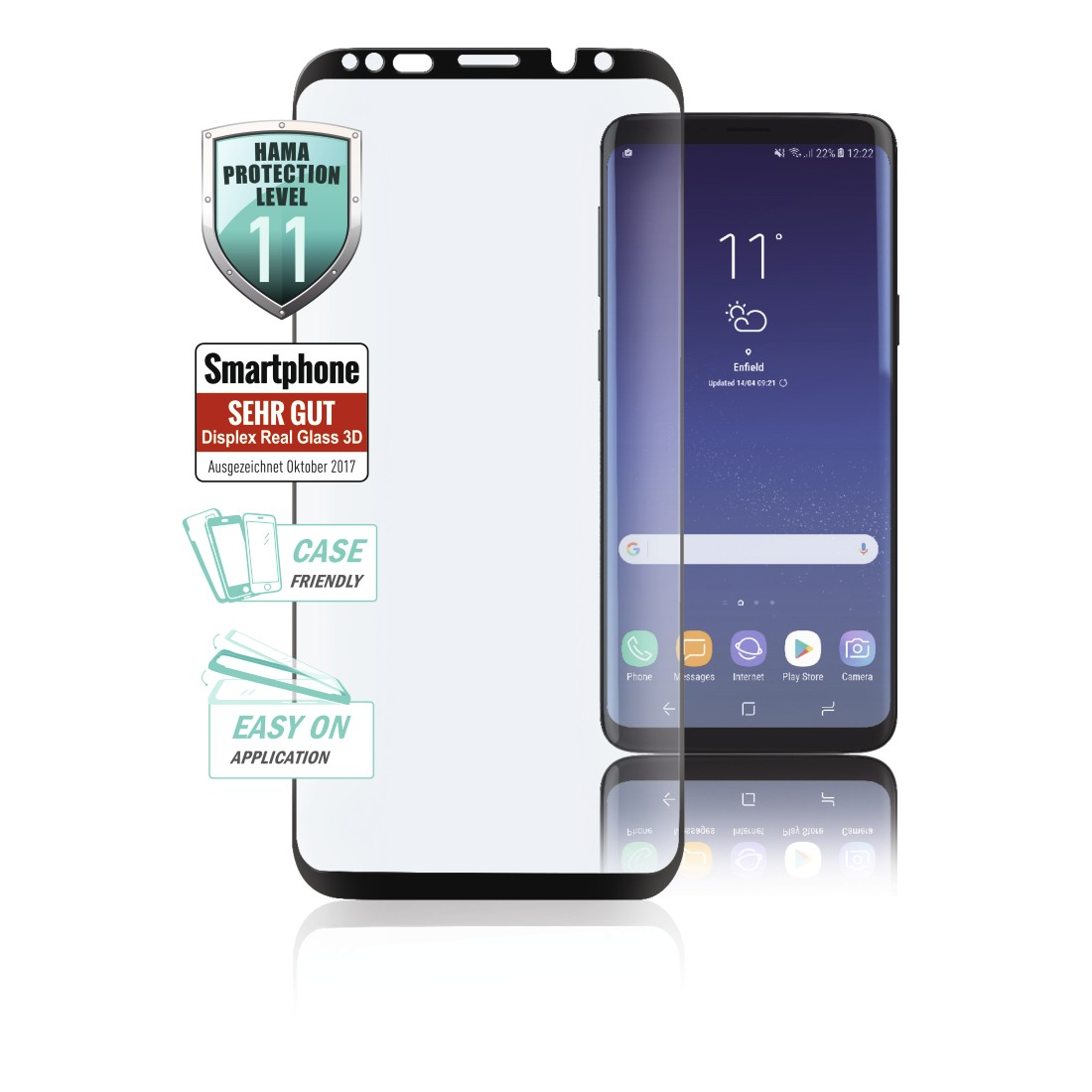 00183442 Hama 3d Full Screen Schutzglas Fur Samsung Galaxy A6 2018