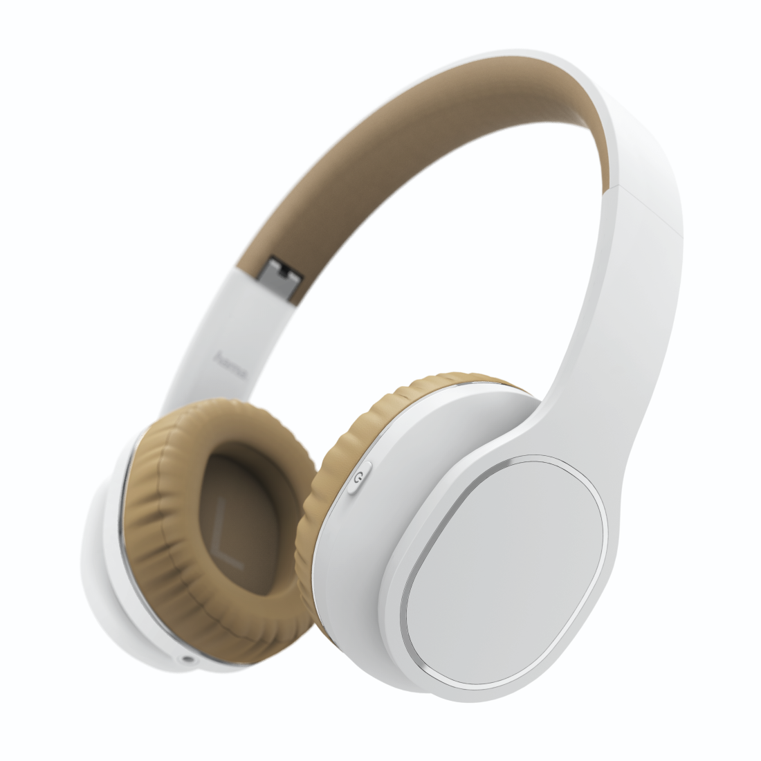 "abx High-Res Image - Hama, Bluetooth® ""Touch"" headphones, on-ear, microphone, touch control, white/bei"